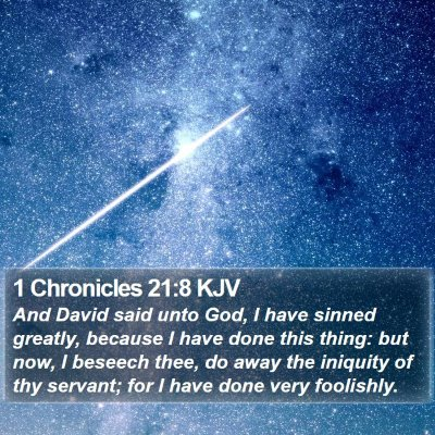 1 Chronicles 21:8 KJV Bible Verse Image