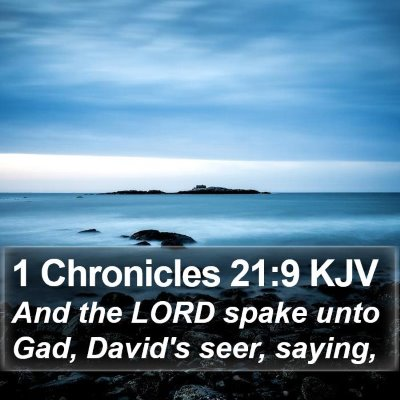 1 Chronicles 21:9 KJV Bible Verse Image