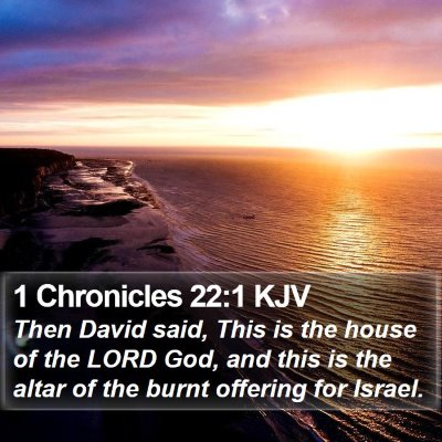 1 Chronicles 22:1 KJV Bible Verse Image