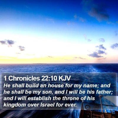 1 Chronicles 22:10 KJV Bible Verse Image