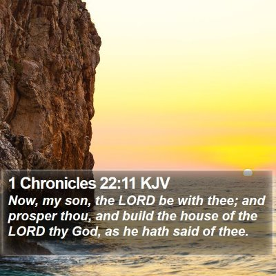 1 Chronicles 22:11 KJV Bible Verse Image