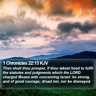 1 Chronicles 22:13 KJV Bible Verse Image