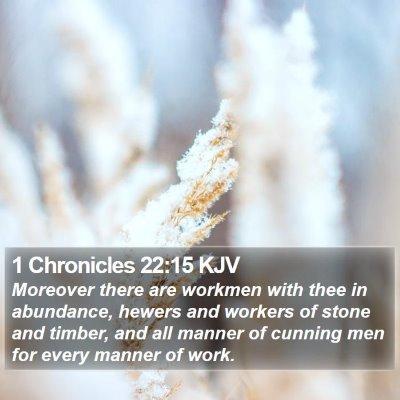 1 Chronicles 22:15 KJV Bible Verse Image