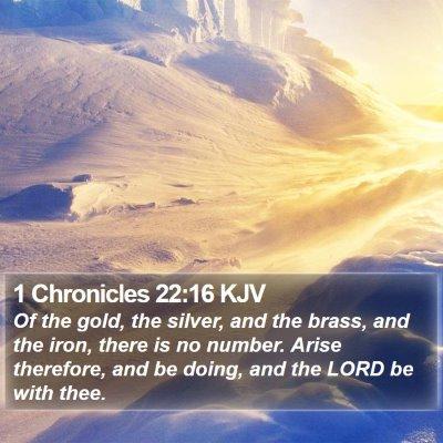 1 Chronicles 22:16 KJV Bible Verse Image