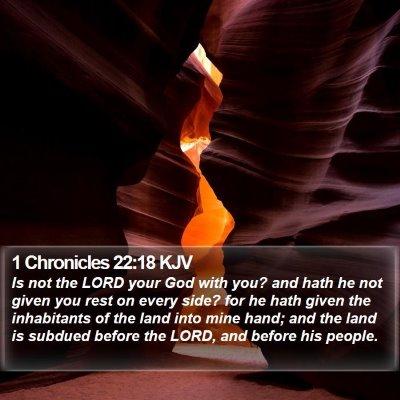 1 Chronicles 22:18 KJV Bible Verse Image