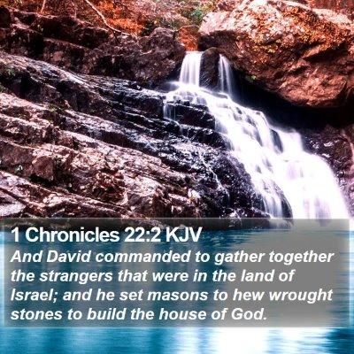 1 Chronicles 22:2 KJV Bible Verse Image
