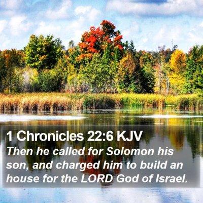 1 Chronicles 22:6 KJV Bible Verse Image