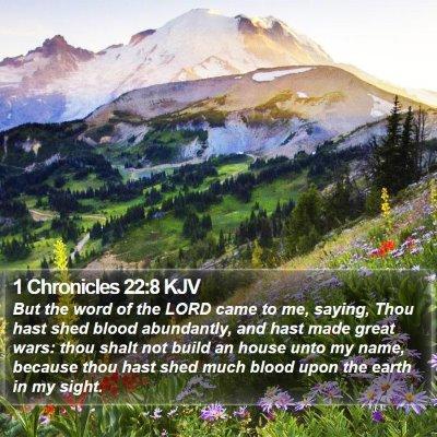 1 Chronicles 22:8 KJV Bible Verse Image