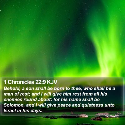 1 Chronicles 22:9 KJV Bible Verse Image
