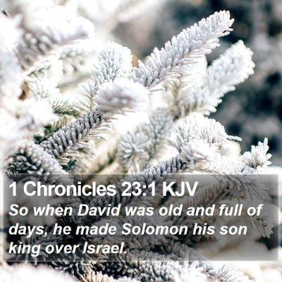 1 Chronicles 23:1 KJV Bible Verse Image