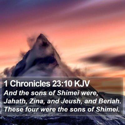 1 Chronicles 23:10 KJV Bible Verse Image