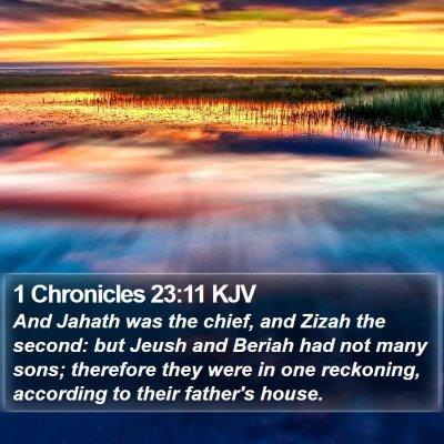 1 Chronicles 23:11 KJV Bible Verse Image
