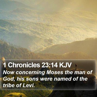 1 Chronicles 23:14 KJV Bible Verse Image