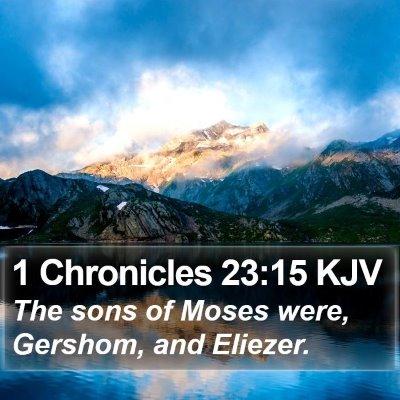 1 Chronicles 23:15 KJV Bible Verse Image