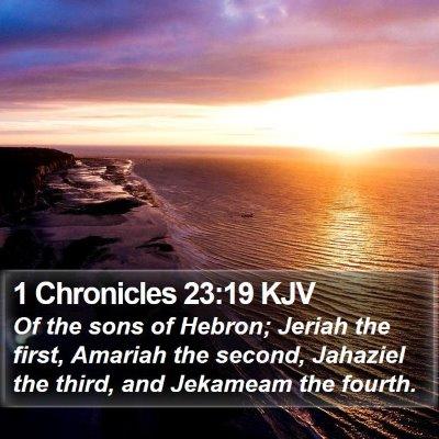 1 Chronicles 23:19 KJV Bible Verse Image