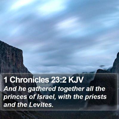1 Chronicles 23:2 KJV Bible Verse Image