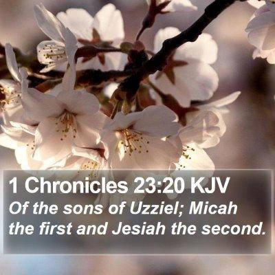 1 Chronicles 23:20 KJV Bible Verse Image