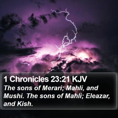 1 Chronicles 23:21 KJV Bible Verse Image