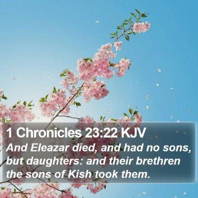 1 Chronicles 23:22 KJV Bible Verse Image