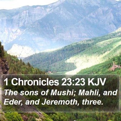 1 Chronicles 23:23 KJV Bible Verse Image