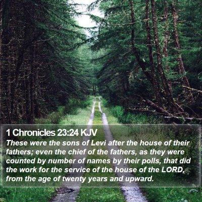 1 Chronicles 23:24 KJV Bible Verse Image