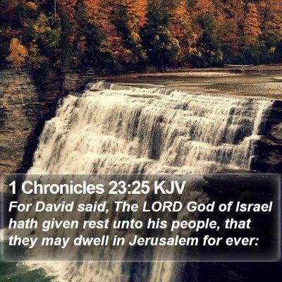 1 Chronicles 23:25 KJV Bible Verse Image