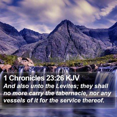 1 Chronicles 23:26 KJV Bible Verse Image