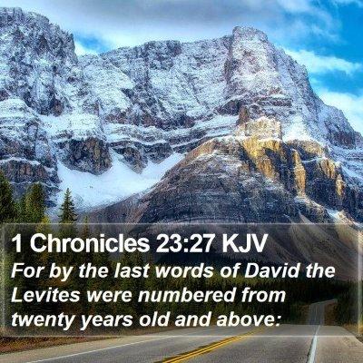 1 Chronicles 23:27 KJV Bible Verse Image