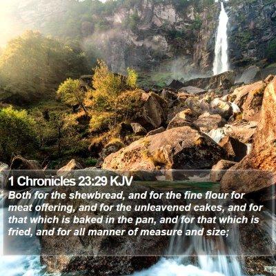 1 Chronicles 23:29 KJV Bible Verse Image