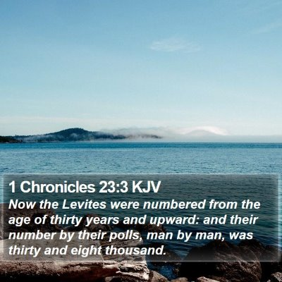1 Chronicles 23:3 KJV Bible Verse Image