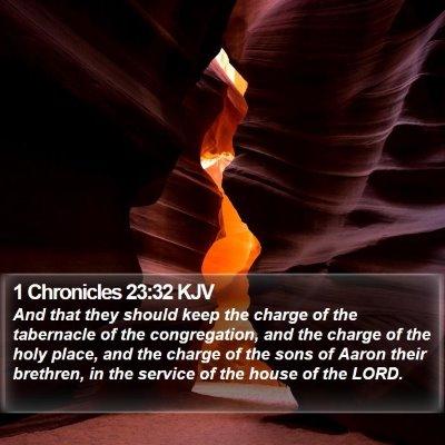 1 Chronicles 23:32 KJV Bible Verse Image
