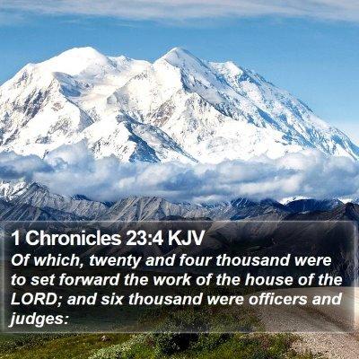 1 Chronicles 23:4 KJV Bible Verse Image
