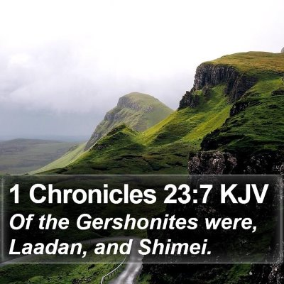 1 Chronicles 23:7 KJV Bible Verse Image