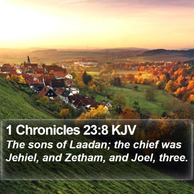 1 Chronicles 23:8 KJV Bible Verse Image
