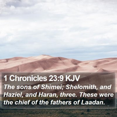 1 Chronicles 23:9 KJV Bible Verse Image