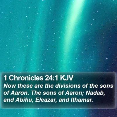 1 Chronicles 24:1 KJV Bible Verse Image