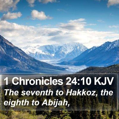 1 Chronicles 24:10 KJV Bible Verse Image