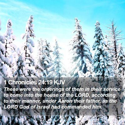 1 Chronicles 24:19 KJV Bible Verse Image