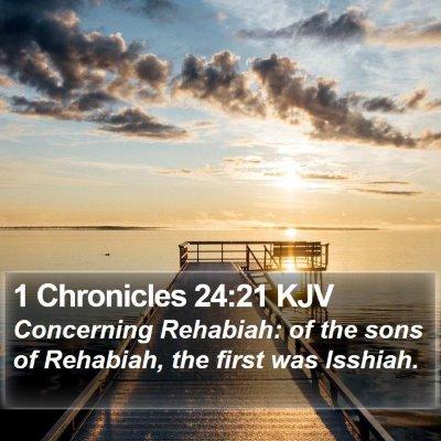 1 Chronicles 24:21 KJV Bible Verse Image