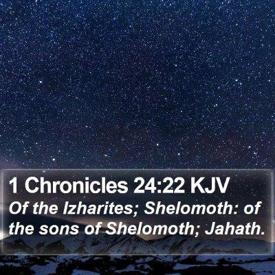 1 Chronicles 24:22 KJV Bible Verse Image