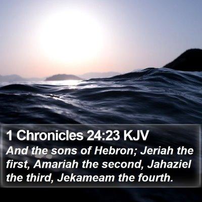 1 Chronicles 24:23 KJV Bible Verse Image