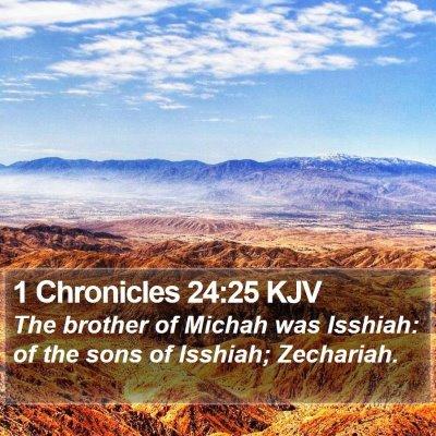 1 Chronicles 24:25 KJV Bible Verse Image