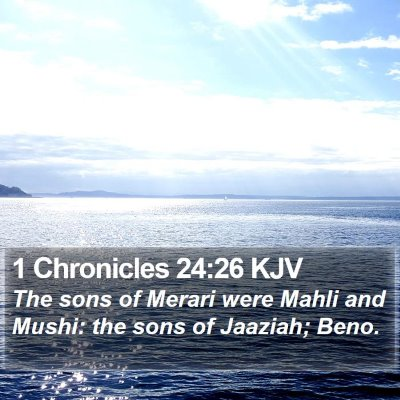 1 Chronicles 24:26 KJV Bible Verse Image