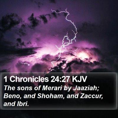 1 Chronicles 24:27 KJV Bible Verse Image