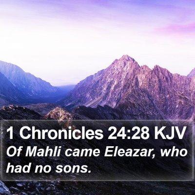 1 Chronicles 24:28 KJV Bible Verse Image