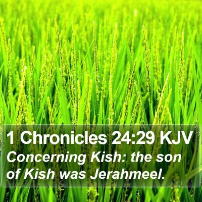 1 Chronicles 24:29 KJV Bible Verse Image