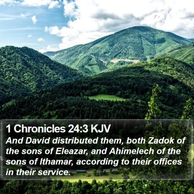 1 Chronicles 24:3 KJV Bible Verse Image