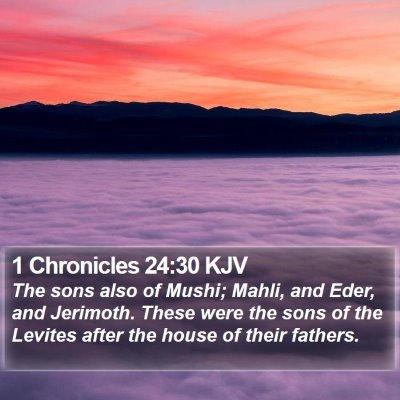 1 Chronicles 24:30 KJV Bible Verse Image