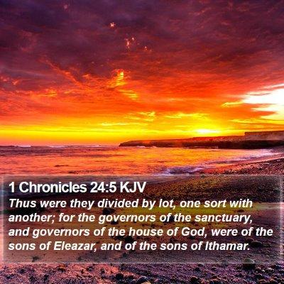 1 Chronicles 24:5 KJV Bible Verse Image