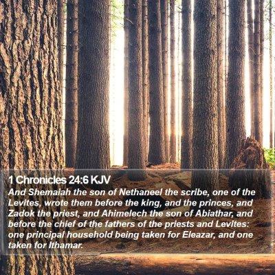 1 Chronicles 24:6 KJV Bible Verse Image